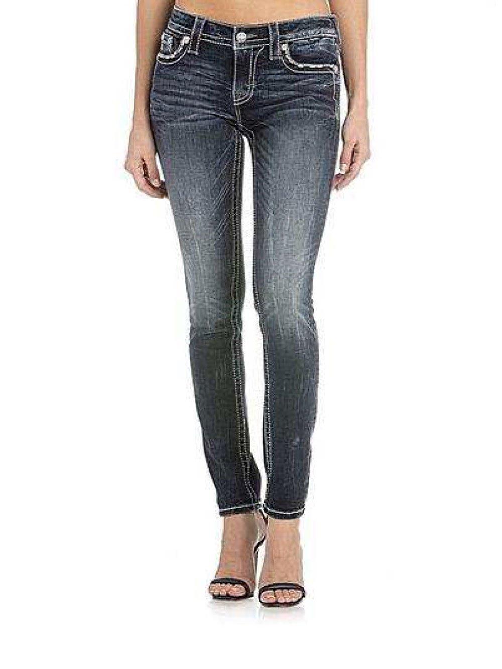 Miss Me Loving Hearts Dark Skinny Jeans M3172S
