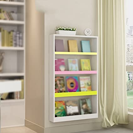 Childrens Bookshelf Display Stand Wall Shelf Mounted Table Magazine