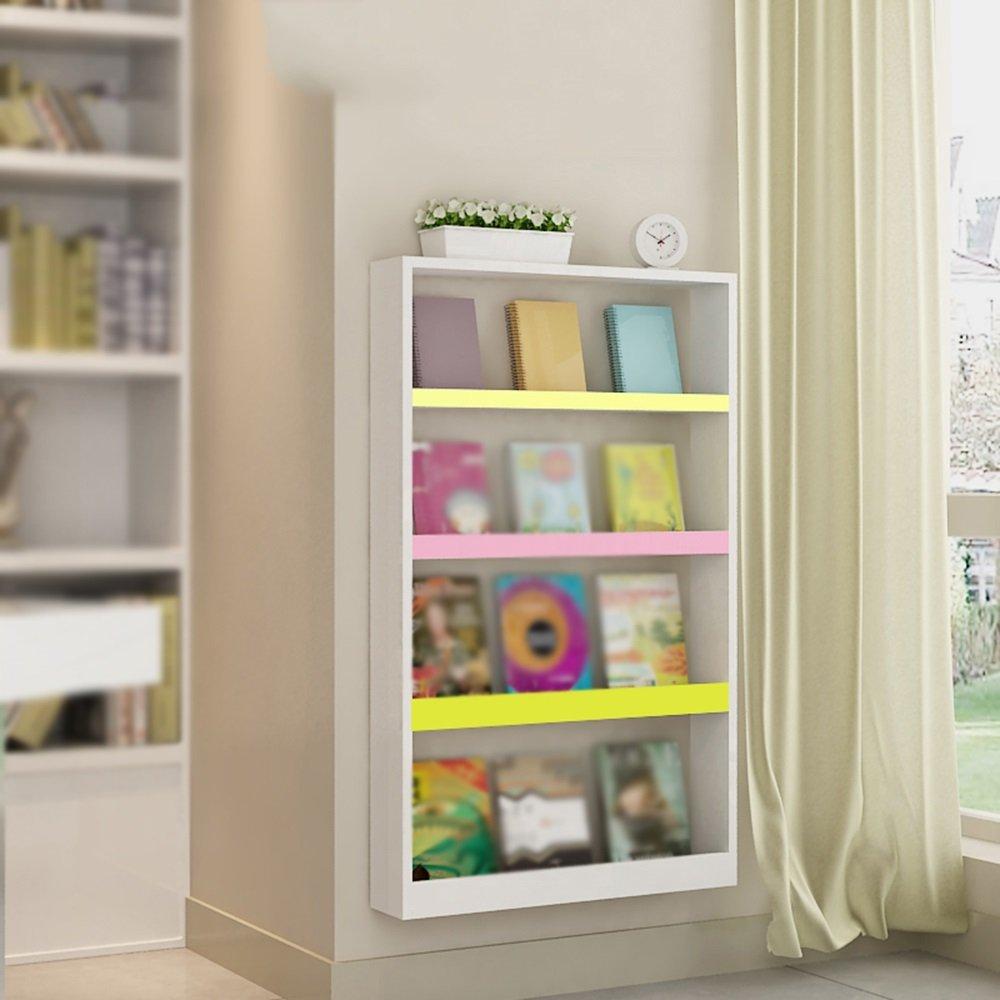 Children's Bookshelf / Display Stand / Wall Shelf / Wall-mounted Table Magazine Shelf / Bedroom Wall Shelf / Bookshelf / Storage Shelf / Two Colors Optional Shelf /(110.568cm) ( Color : A )