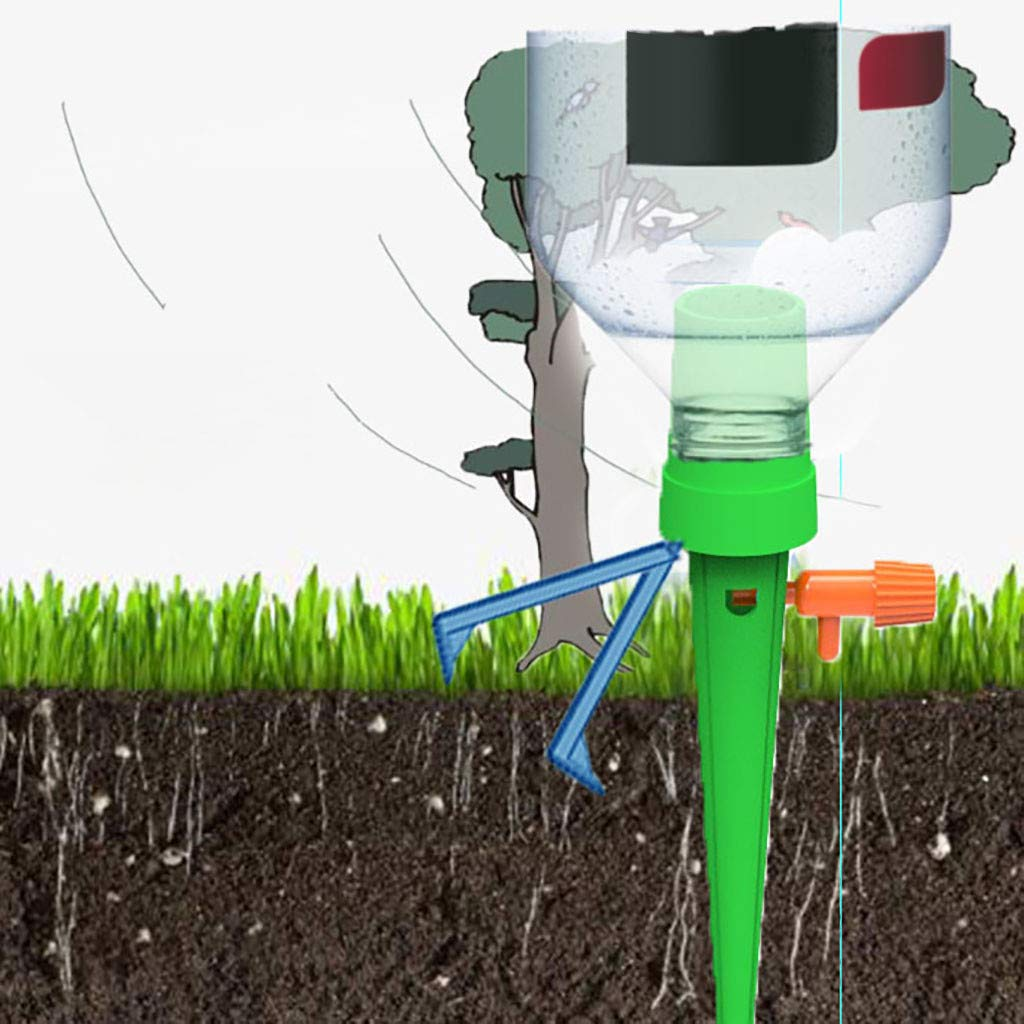 6PS Yliquor Adjustable Self Watering Spikes,Plant Flower Waterer Self Watering Spikes System Automatic Vacation Drip Irrigation Watering for Garden Plants Indoor /& Outdoor