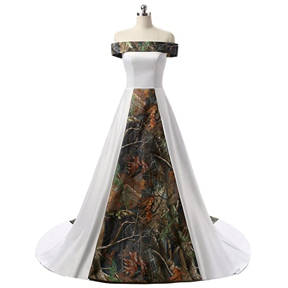 Angela Women\'s Strapless White and Camouflage Wedding Dresses Long ...