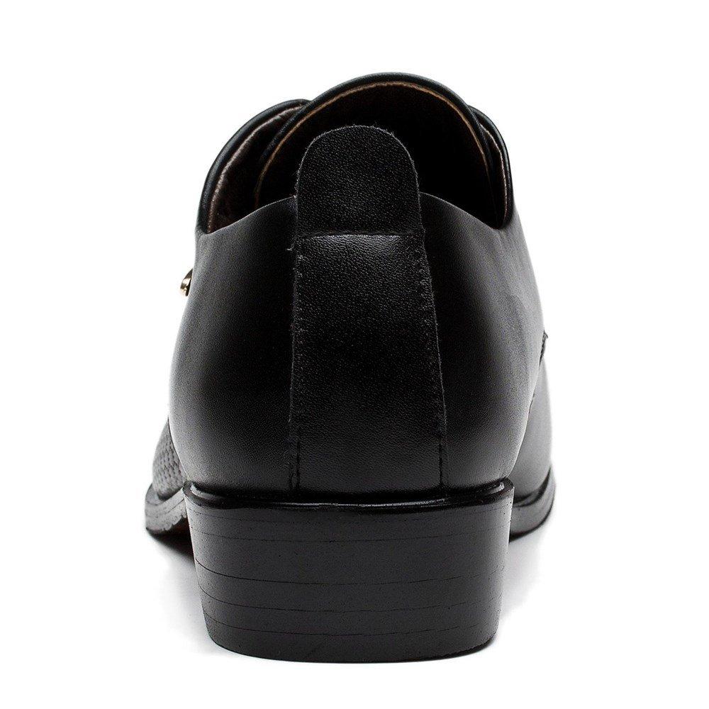 Blivener Men's Pointed Toe Classic Oxford Formal Business Dress Shoes Black US 8.5 by Blivener (Image #4)