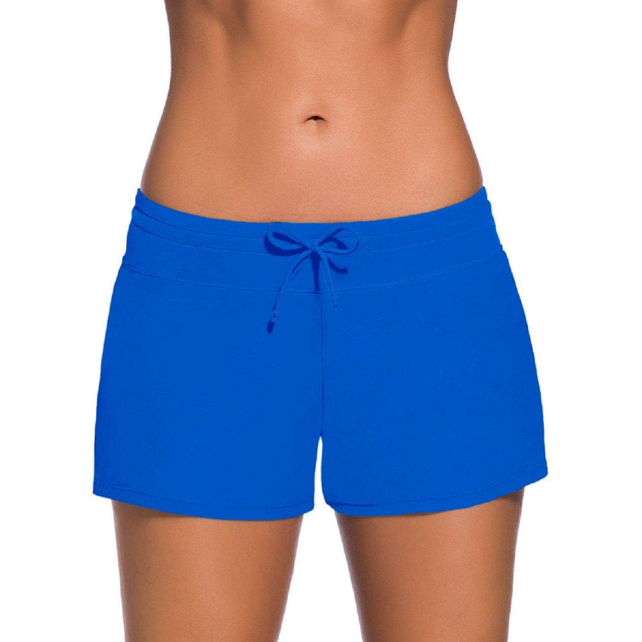 PROMLINK Women's Side Slit Tankini Swimsuit Bottom Beach Board Shorts