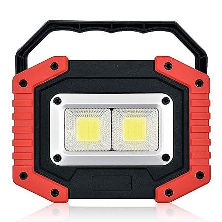 HAMKAW Proyector portátil de LED para Camping al Aire Libre, 2 COB ...