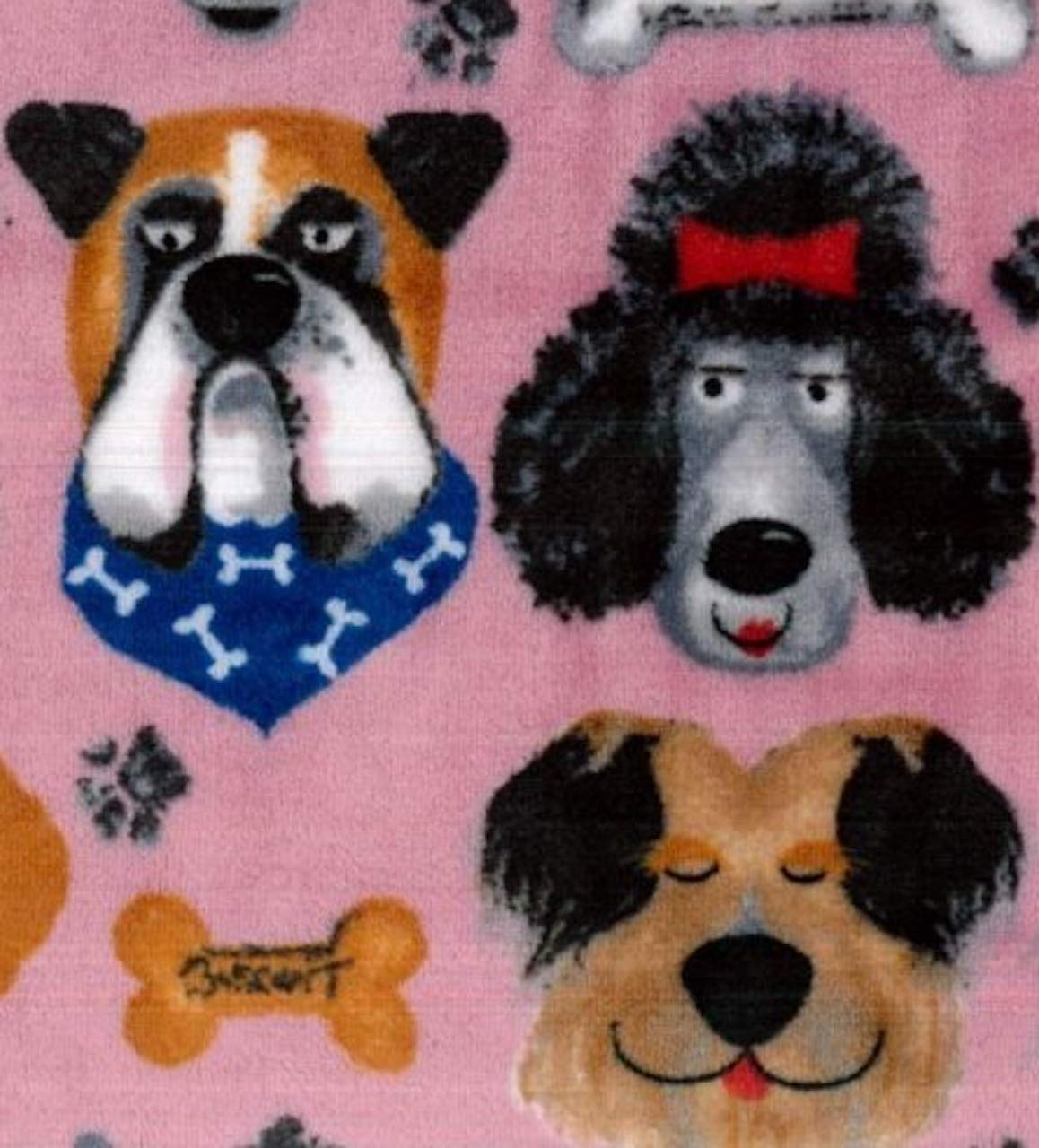 Large Super Soft Luxury Thick Fleece Throw Dog Lover Pink