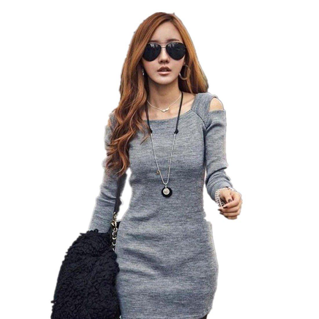 4c5e5e9c133b Vestido de Mujer otoño Invierno Amlaiworld Mini Vestido Corto de ...