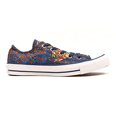 19249d8a83ce Converse Chuck Taylor All Star Tribal Ox Womens Canvas Trainers Navy - 3  UK  Amazon.co.uk  Shoes   Bags