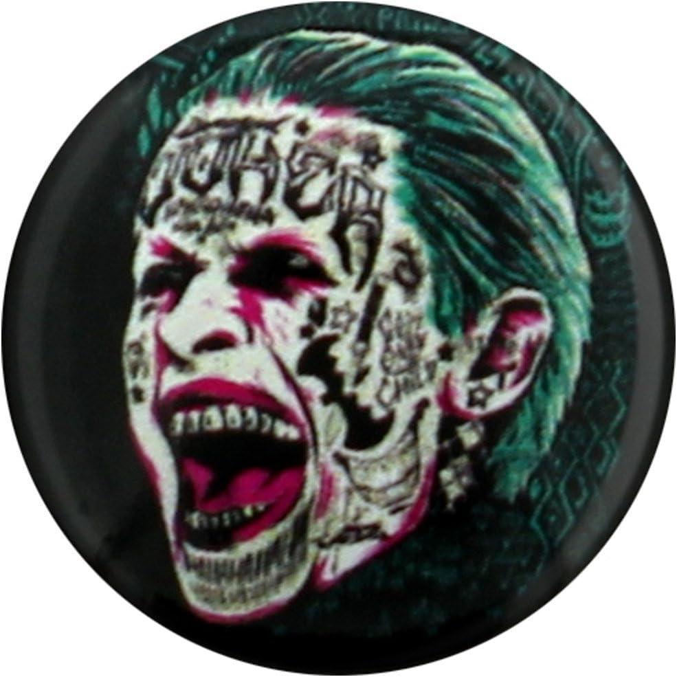 25mm pelotón del suicidio Pin El Joker tatuaje Escudo oficial ...