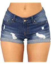 Womens Denim Hot Shorts Summer Casual High Waisted Short Pants