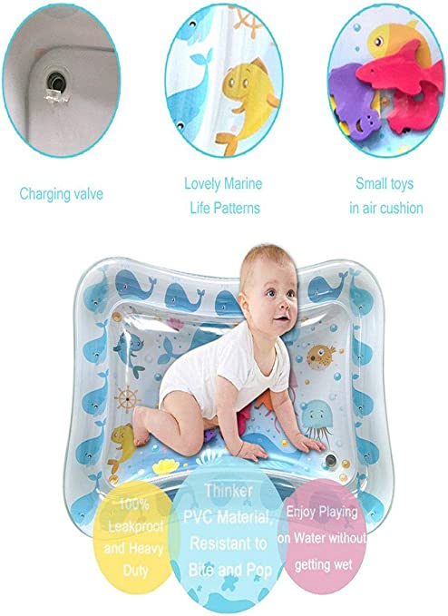 Inflatable Baby Water Mat Fun Activity Play Center for Children Cushion
