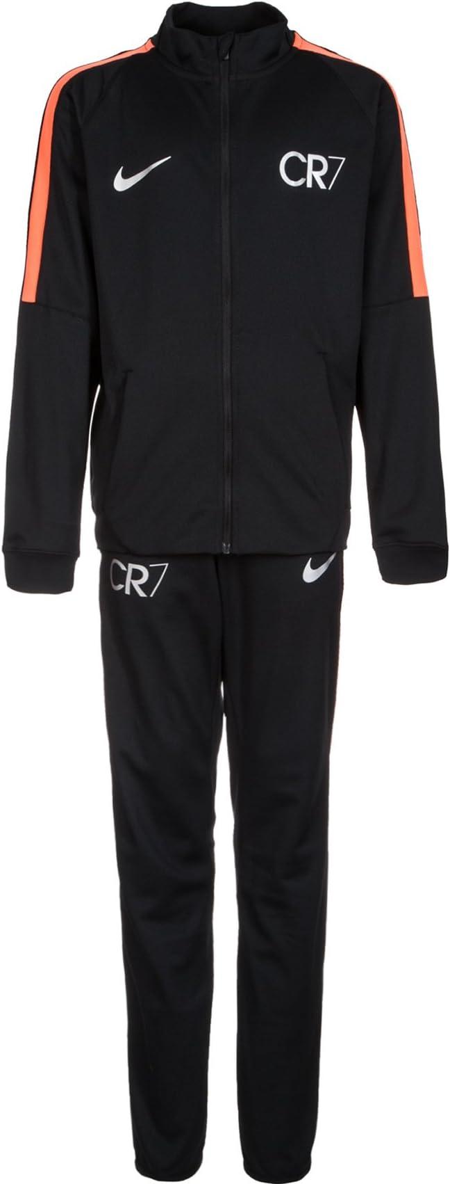 Nike Dry Squad CR7 Chándal para niños, negro / naranja: Amazon.es ...