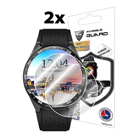 IPG for KINGWEAR KW88 Smartwatch Screen Protector (2X) Invisible Ultra HD Clear Film Anti Scratch Skin Guard - Smooth/Self-Healing/Bubble -Free