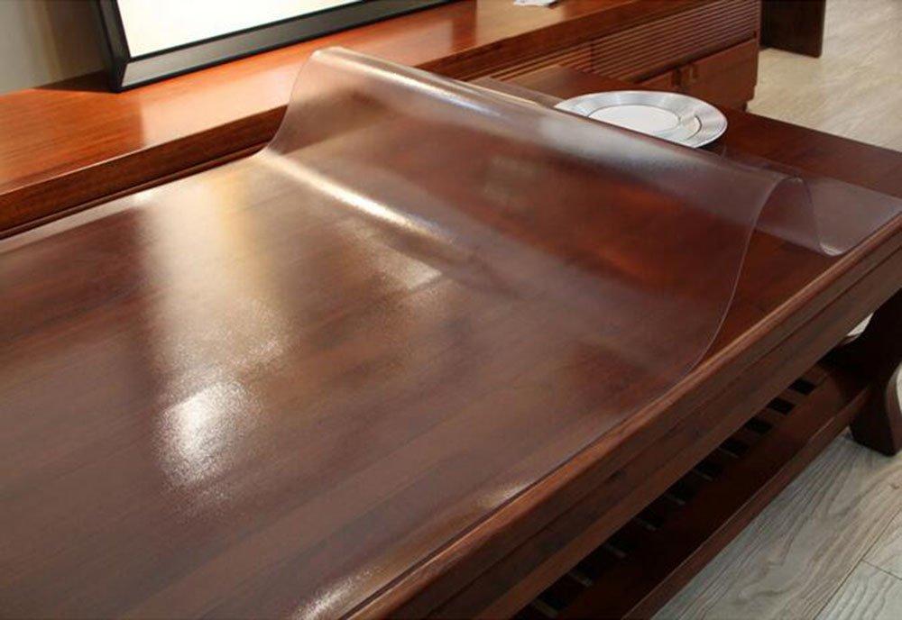 Tischtuch Weiches Glas Transparentes Verdickung 2mm Tischmatte PVC Matte Anti-Heiß Wasserdichte Tischdecke Kunststoff Kristallplatte Kaffee Matte Tischsets (Farbe   A3, größe   90  90cm) B071LDM1YH Tischdecken Elegantes und robustes Menü