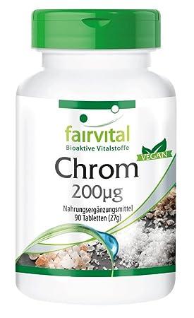 picolinato de cromo dosis diaria recomendada