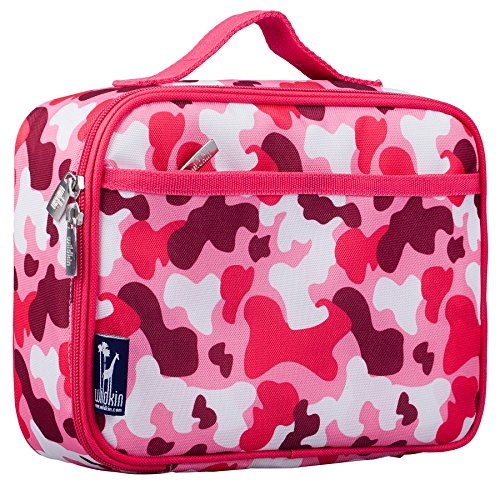 Lunch Box, Wildkin Lunch Box, Insulated, Moisture Resistant, and Easy to Clean with Helpful Extras for Quick and Simple Organization, Ages 3+, Perfect for Kids or On-The-Go Parents – Pink (Pink Camo Lunch Box)
