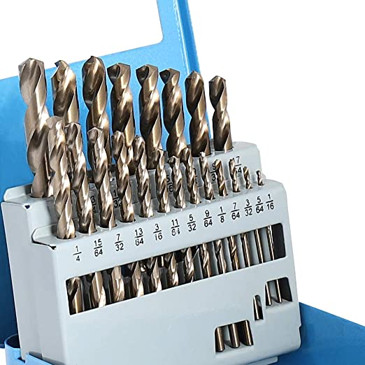 HSS Jobber Length Drill Bits with Metal Indexed Case 18-Piece 6-32 to 1//2-13 Tap Sizes COMOWARE Drill and Tap Sets