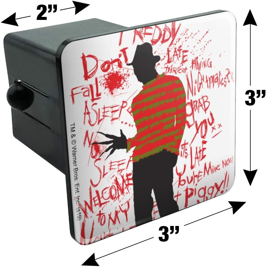 Graphics and More A Nightmare on Elm Street Freddy Tow Trailer Hitch Cover Plug Insert