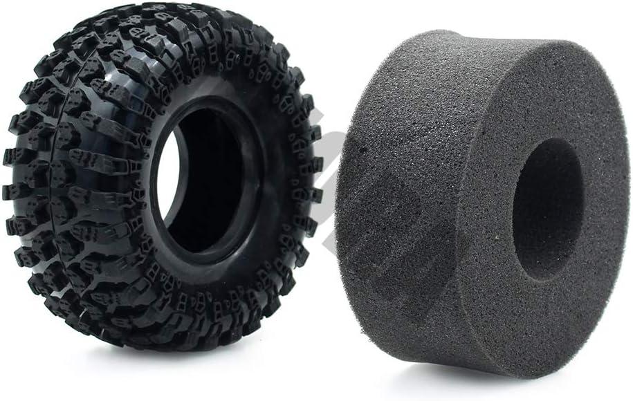 INJORA 4pcs 2,2 Pneus Truck Caoutchouc Pneus pour 1:10 RC Rock Crawler Axial SCX10 AX10 Wraith RC4WD D90