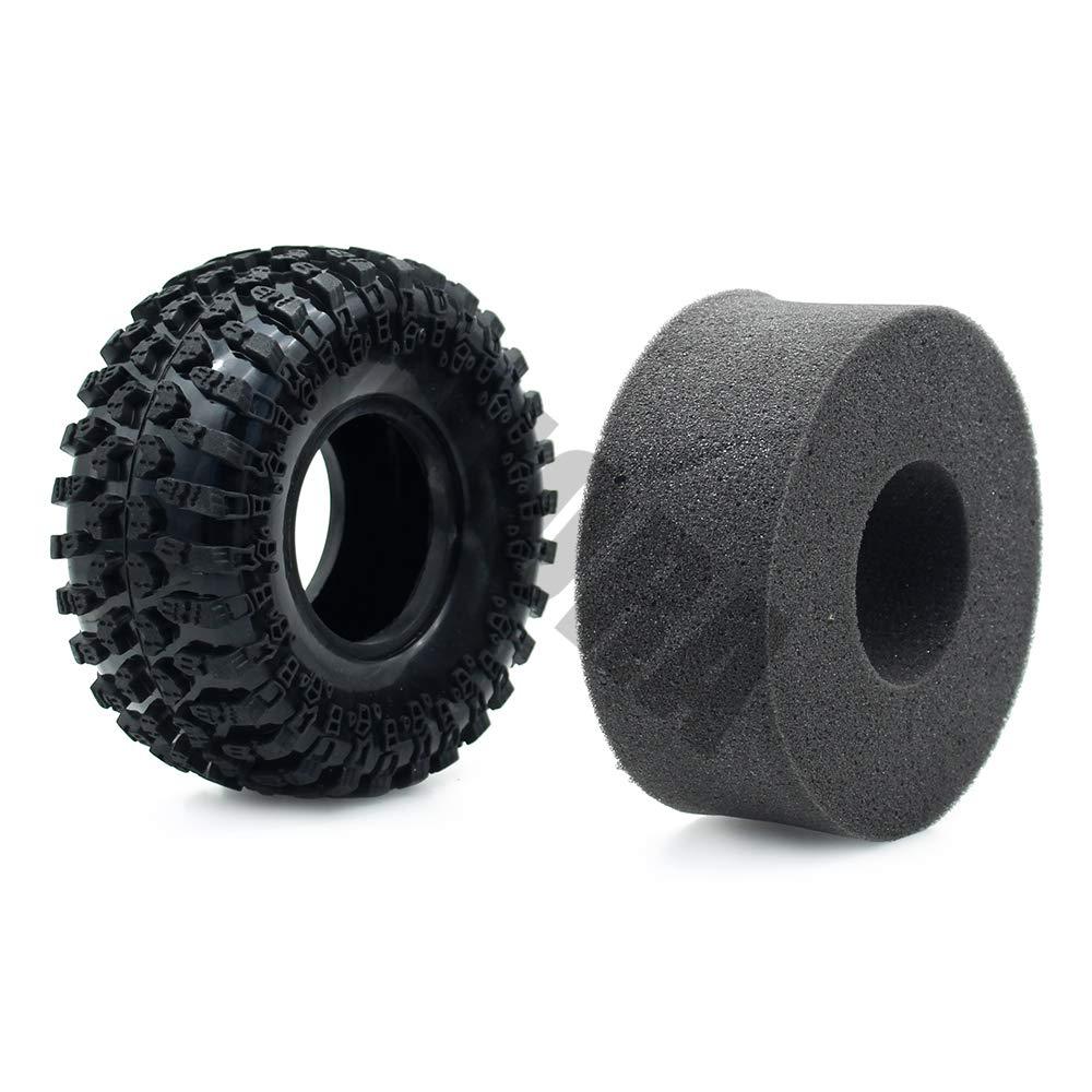 INJORA 4PCS 2,2 Neum/áticos Truck Tires para 1:10 RC Rock Crawler Axial SCX10 AX10 Wraith RC4WD D90