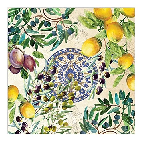 20-Count 3-Ply Paper Luncheon Napkins, Tuscan Grove
