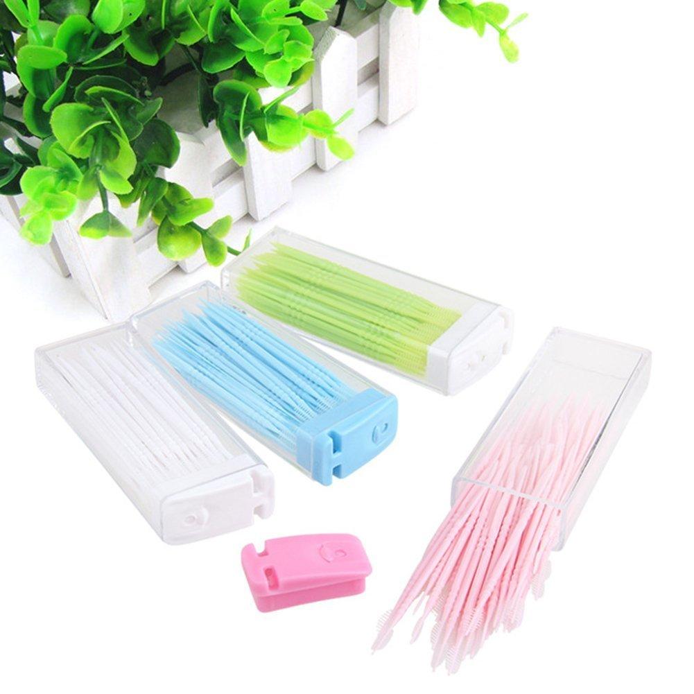 150pcs portátil palillo de dientes dispensador Woopower plástico dientes clean tool: Amazon.es: Salud y cuidado personal