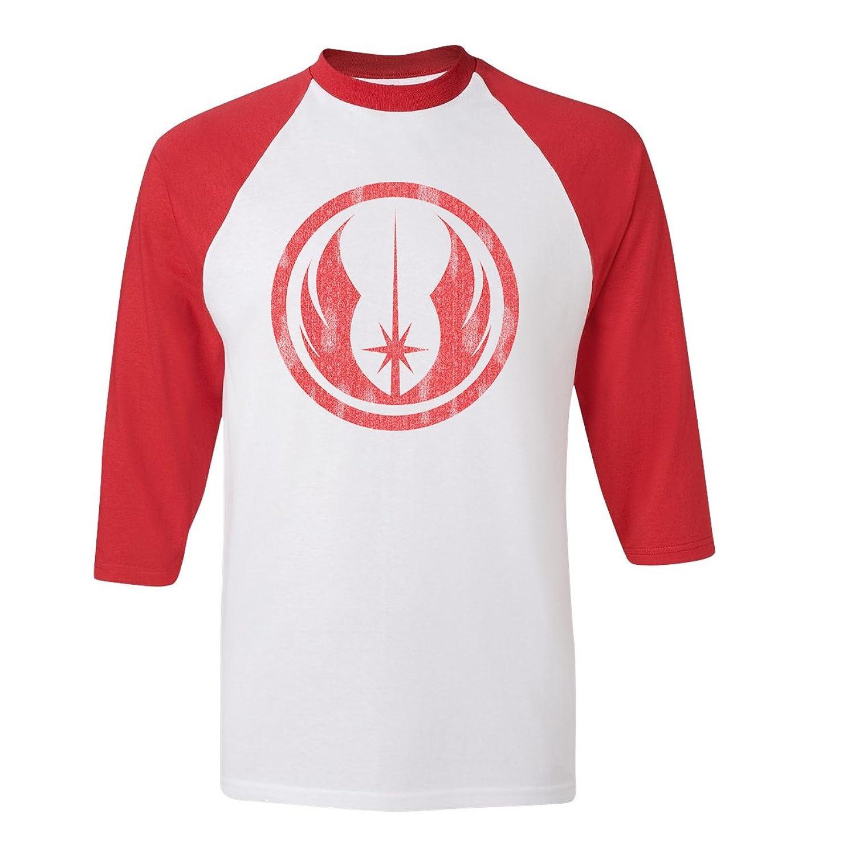 Jedi order vintage star wars logo emblem baseball raglan for Order shirts with logo