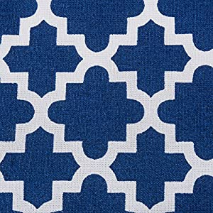 "DII Rectangle Lattice Cotton Tablecloth for Weddings, Picnics, Summer Parties and Everyday Use - 60x84"", Nautical Blue and White"