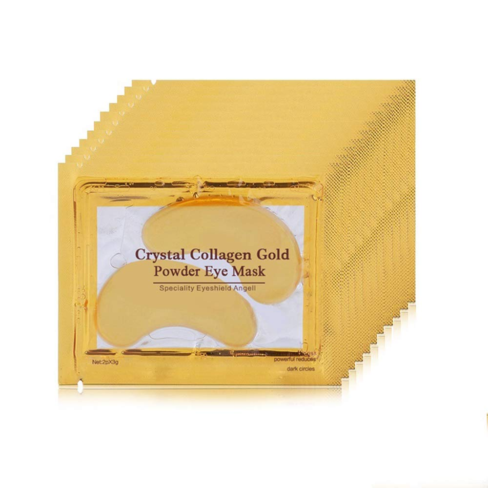 30 Pairs Crystal Collagen Gold Powder Eye Mask Patches Aye For Face Care Dark