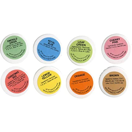 Amazon.com: CK Products Powder Food Color Kit - 8 Colors, 4g Each ...