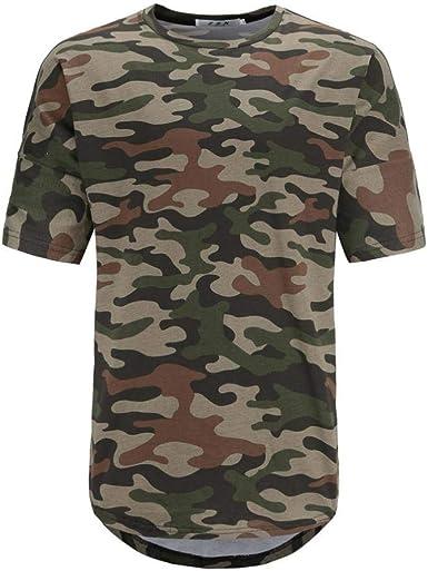 Camiseta Camisa De Camuflaje Hombres Casual Militar Verano para De Ropa Festiva Camiseta Básica De Cuello Redondo De Manga Corta para Diario Simple: Amazon.es: Ropa y accesorios