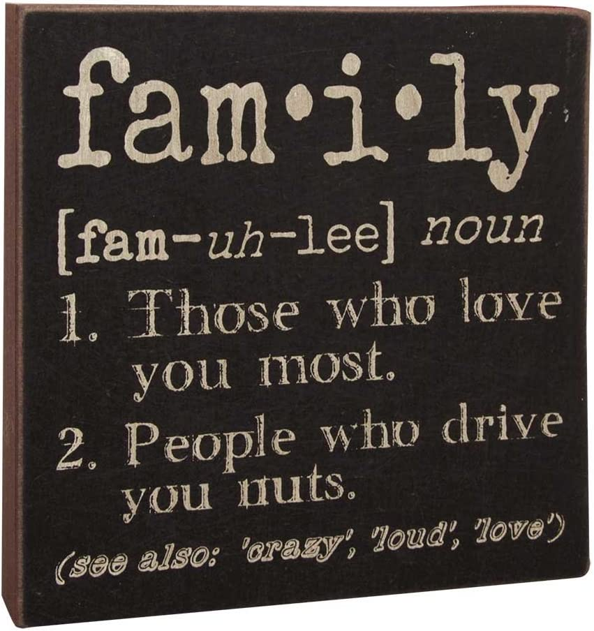 Hearthside Collection The Definition of Family - Decorative Wood Sign 6-in x 6-in
