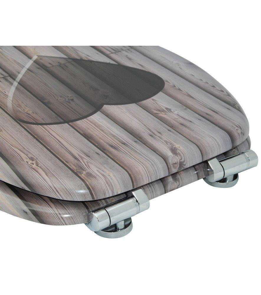 Asiento para inodoro de cierre suave Pies gran selecci/ón de atractivos asientos de inodoro de madera con calidad superior y duradera