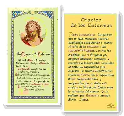 Amazon.com: Oracion De Los Enfermos Tarjeta Laminada ...