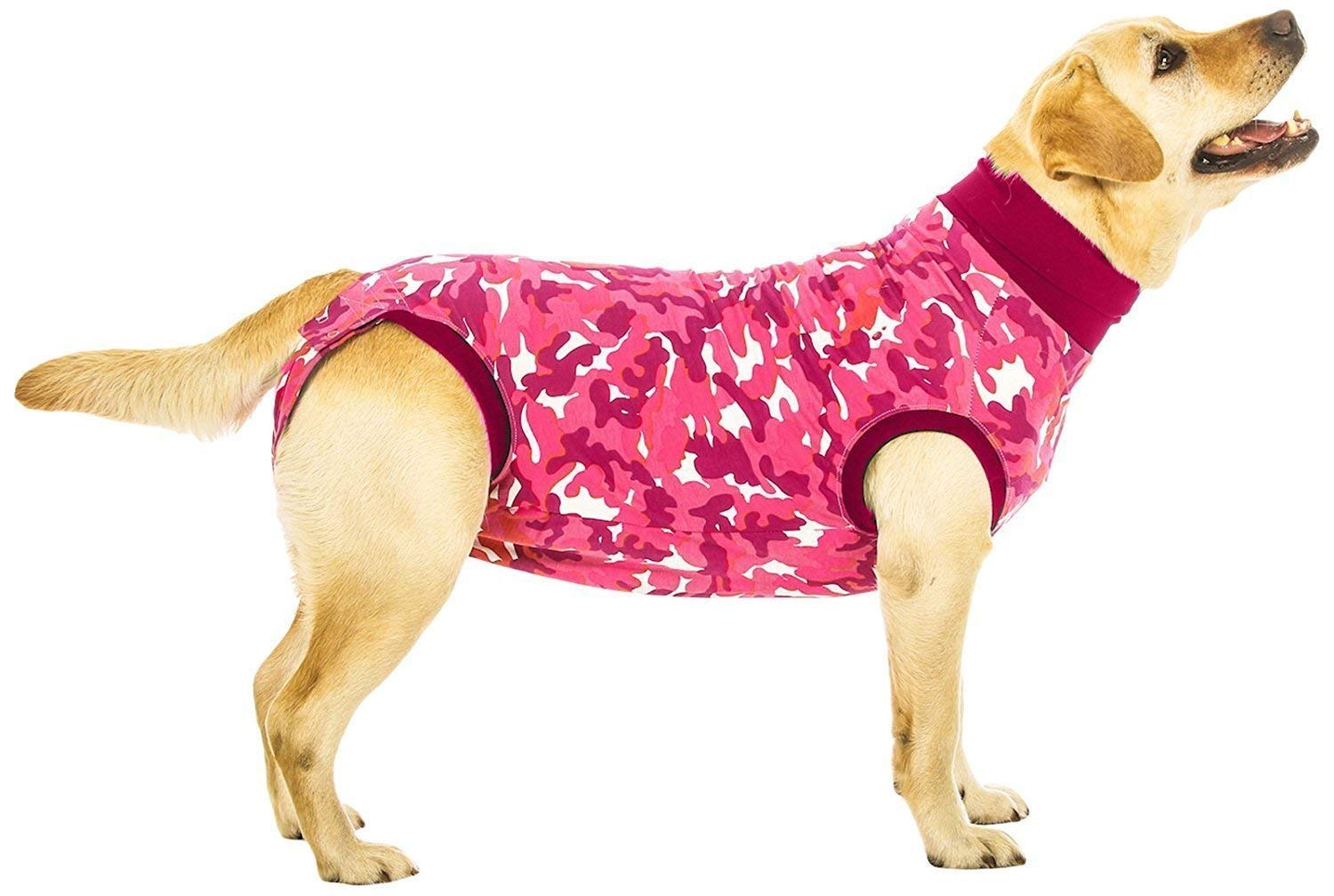 Suitical Recovery Suit Dog, Large, Pink Camouflage by Suitical
