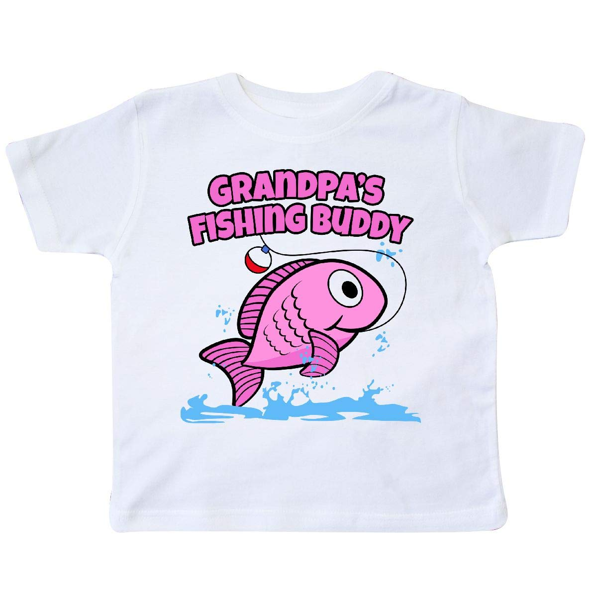 inktastic Grandpas Fishing Buddy Toddler T-Shirt Pink