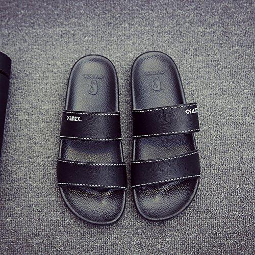 soggiorno nero slittamento 35 personalizzati coppie fankou di pantofole per uomini 36 anti estate usura interni 47vq6w
