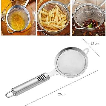 Strainer Ladle colador cucharón freidora de acero inoxidable Skimmer cuchara inalámbrico Maille Fine filtro de aceite