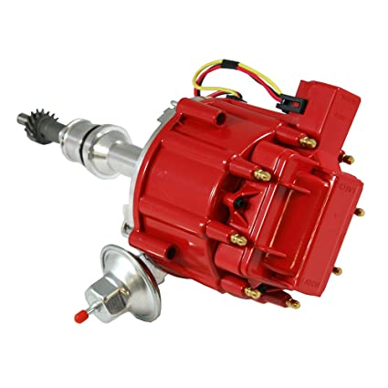 Assault Racing Products 1046011 for Ford One Wire HEI Conversion Red  Distributor Complete w/Coil 351C 351M 400 429 460