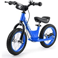 ENKEEO 14'' Sport Balance Bike No Pedal Control Walking Bicycle Transitional Cycling Training with Adjustable Seat and Upholstered Handlebars for Kids Toddlers Under 4'1'' Height