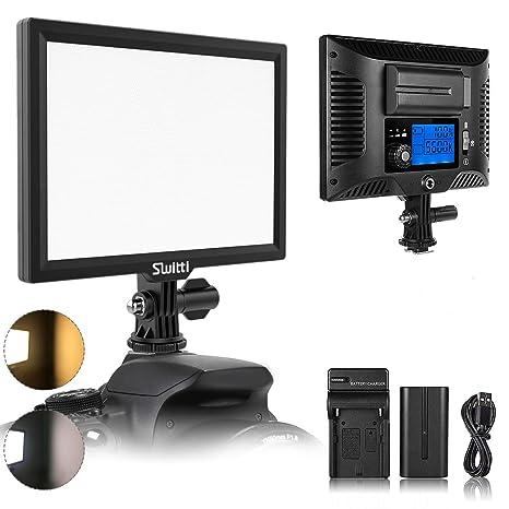 LED Lámpara de vídeo con NP-F750 Batería de ion de litio y ...
