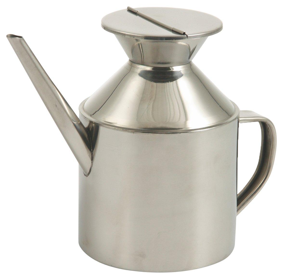 Galileo Casa Oil Style Oil Cruet, Steel, Grey, 9x 9x 13.5cm Galileo Spa 2403963 2403963_silver