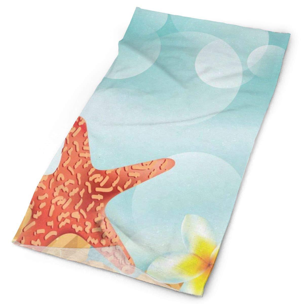 Muffler Neck Gaiter Ocean Sea World Beach Shells Starfish Balaclava Womens Headband Scarf Mens Versatile Bandana Foulard Tube Magic
