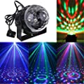 AccMart 7 Colors Stage Lights,3W LED RGB Sound Actived Crystal Magic Rotating Ball,Lights Effect For KTV Party Wedding Show Club Pub Color Changing Lighting(WITHOUT REMOTE) by AccMart