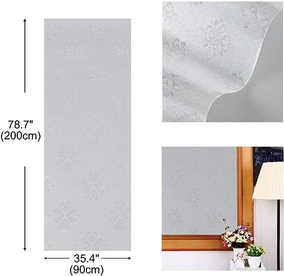 sourcing map PVC No Pegajoso Protección Privacidad Bloqueo Solar Anti UV Estático Adhesivo Papeles Ventana Vidrio 35,4 x 78,7 Pulgadas para Hogar Oficina Cuatrifolio: Amazon.es: Hogar