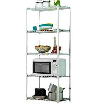 Tootless Shelving Wide Open Fit Flare Leveling Feet Storage 5 Shelf Wheels Book AS1