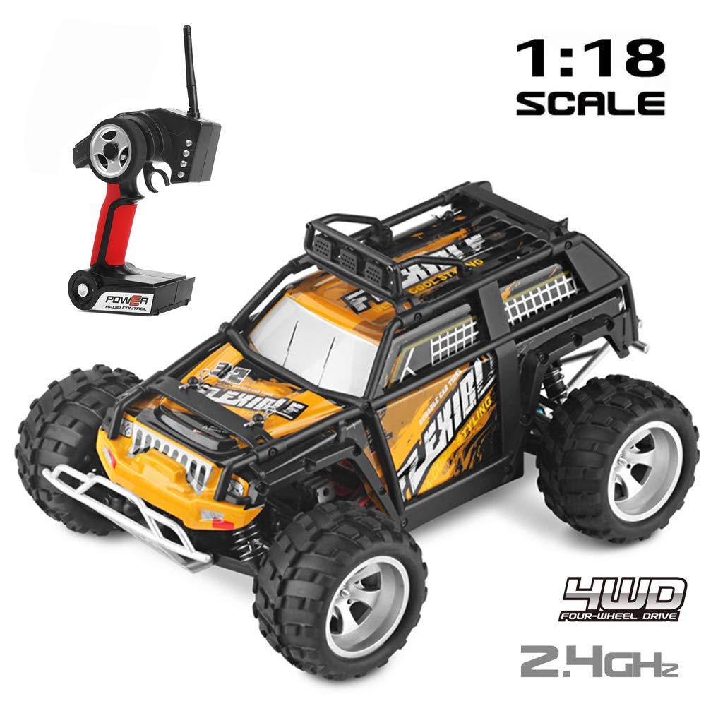 SHENG Fernbedienung Auto Spielzeugauto, 1:18 Allradantrieb Fernbedienung Wüstenwagen High-Speed-Auto SUV, geeignet für Kinder und Erwachsene Spielzeug