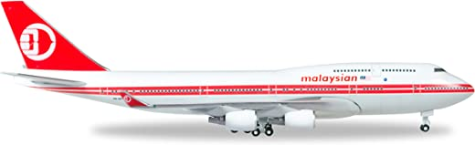 herpa 529679 529679-Malaysia Airlines Boeing 747-400 Vehicle-Retro Color