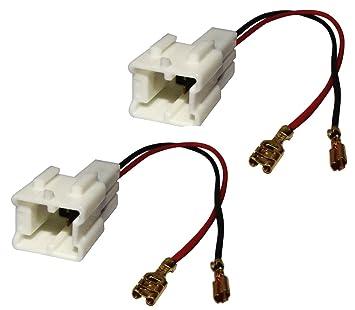 2 Kabel Aerzetix Anschl/üsse f/ür Lautsprecher