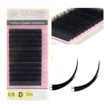 f15e1961a30 Amazon.com : Matte Mink Flat Eyelash Extension 0.15 C Curl 8-13mm Mixed  Tray Flat Eyelashes False Mink Individual Eyelash Extension Professional  Salon Used ...