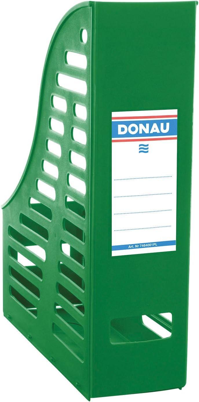 PP gr/ün durchbrochen A4 DONAU 7464001PL-06 Stehsammler klappbar